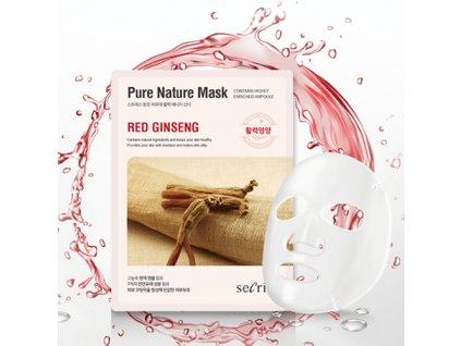 PURE NATURE MASK Red Ginseng Sheet Mask 25ml KOR