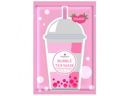 ANNIE'S WAY Bubble Tea Strawberry Sheet Mask 33g KOR