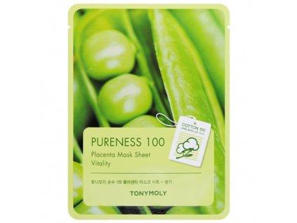 TONYMOLY Pureness 100 Sheet Mask Placenta 1ks 40g KOR