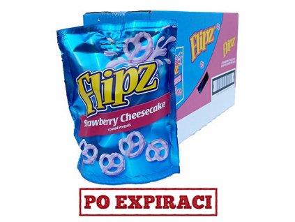 Flipz Strawberry Cheesecake Pretzels Balení (6x90g) UK