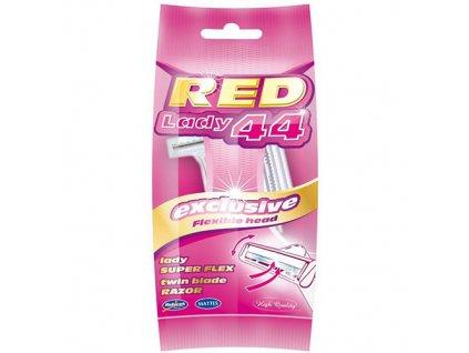 Red Lady 44 Dvoubřitý Holící Strojek s Výkyvnou Hlavicí 5ks EU