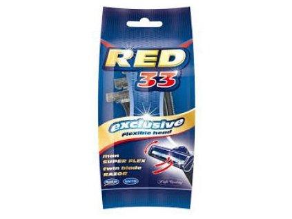 Red Men 33 Dvoubřitý Holící Strojek s Výkyvnou Hlavicí 5ks EU