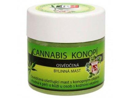 Bylinná Mast Cannabis Konopí 150ml CZE