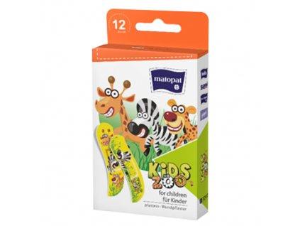 MATOPAT Dětské Náplasti Kids Zoo 12ks EU