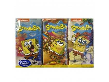 Spongebob 4V Čtyřvrstvé Papírové Kapesníky 6ks ITA
