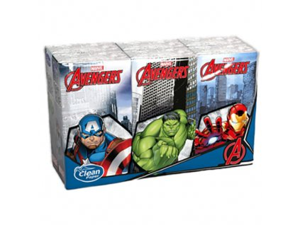 Avengers Čtyřvrstvé Papírové Kapesníky 6ks ITA