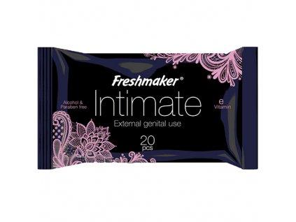 Fresh Maker Vlhčené Ubrousky Na Intimní Hygienu Black 20ks TUR