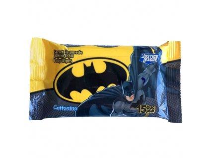 COTTONINO Batman Vlhčené Ubrousky 15ks EU