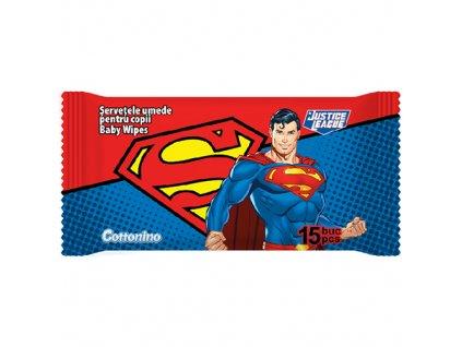 COTTONINO Superman Vlhčené Ubrousky 15ks EU