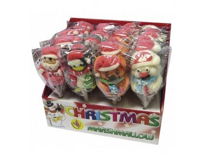 Lízátko Marshmallow Vánoční 28g CHN
