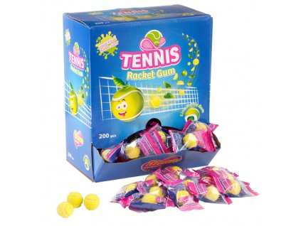 Tennis Racket Gum Žvýkačka Limetka 3,5g TUR