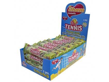 Tennis Rocket Gum Žvýkačky Limetka 17g TUR