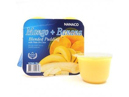 Nanaco Pudink Mango Banán 108g THA