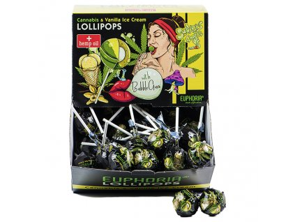 Euphoria Cannabis Lízátko Vanilla Ice Cream 1ks 25g EU