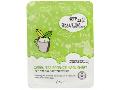 ESFOLIO Pure Skin Green Tea Essence Sheet Mask 25g KOR