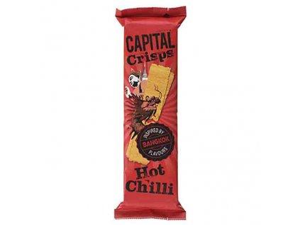 Capital Crisps Bramborové Lupínky Hot Chilli 75g UK