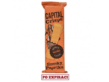 Capital Crisps Madrid Bramborové Lupínky Smoky Paprika 75g UK