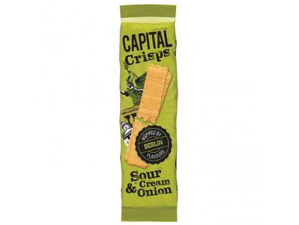 Capital Crisps Bramborové Lupínky Sour Cream & Onion 75g UK