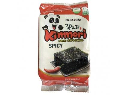 Kimnori Korejské Křupavé Mořské Řasy Spicy 4g KOR