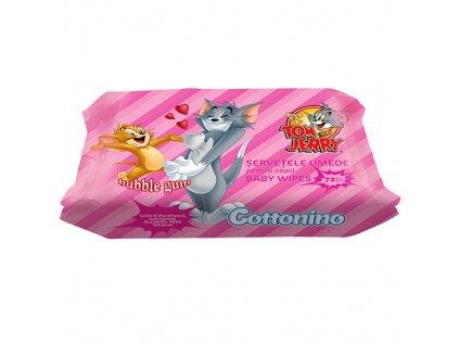 Cottonino Tom Jerry Vlhčené Ubrousky Bubble Gum 72ks EU