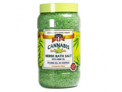Palacio Herbal Therapy Cannabis Koupelová Sůl 1200g CZE