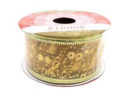 Vánoční Tvarovací Stuha Dekorativní Zlatá 0,38x2,7m CHN