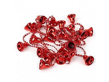 Dekorační Řetěz Zvonečky Červené 1,8m CHN 2