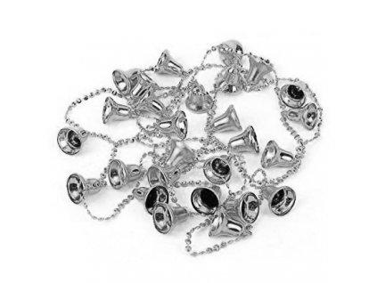 Dekorační Řetěz Zvonečky Stříbrné 1,8m CHN 2