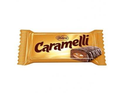 Vobro Caramelli Čokoládový Tyčinka s Karamelovou Náplní 28g EU