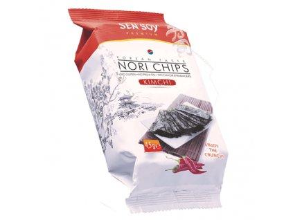 Sen Soy Koresjké Křupavé Řasy Nori Chips Kimchi 4,5g KOR