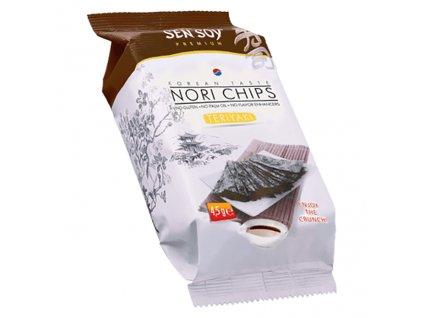 Sen Soy Koresjké Křupavé Řasy Nori Chips Teriyaki 4,5g KOR