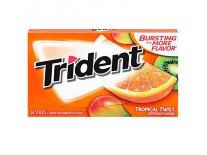 Trident Tropical Twist Žvýkačky 27g USA