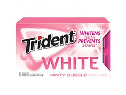 Trident White Minty Bubble Žvýkačky 27g USA