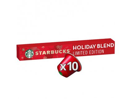 Starbucks Nespresso Holiday Blend 10x Capsules Balení 57g USA