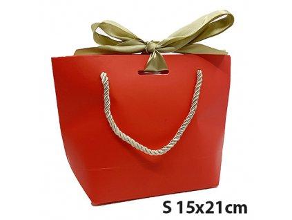 Dárková Taška Červená Velikost S 15x21cm CHN