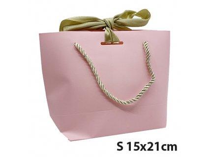 Dárková Taška Růžová Velikost S 15x21cm CHN