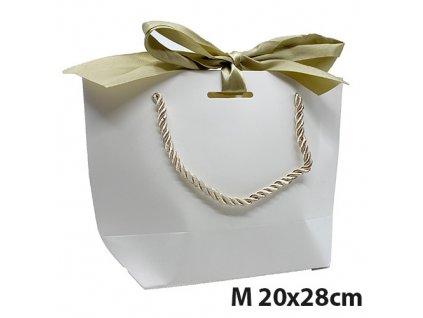 Dárková Taška Bílá Velikost M 20x28cm CHN