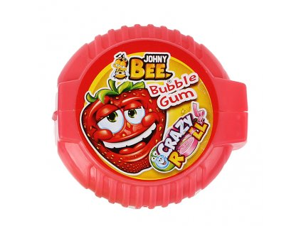 Johny Bee Crazy Roll Bubble Gum Jahoda 18g CZE