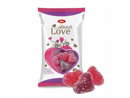 Klim About Love Želé Srdce Bonbóny 200g UK 1