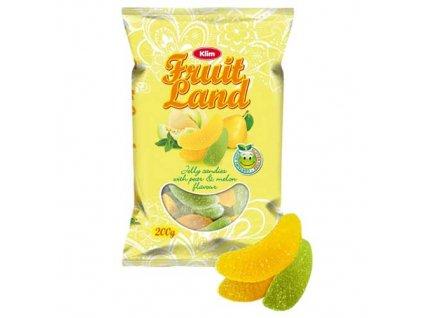Klim Fruit Land Želé Bonbóny Meloun Hruška 200g UK