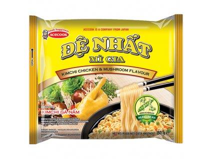 De Nhat Kimchi Chicken Mushroom Instantní Nudle Kuřecí s Houbami 80g VNM
