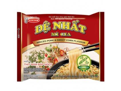 De Nhat Minced Pork Sweet Corn Instantní Nudle Vepřové 81g VNM
