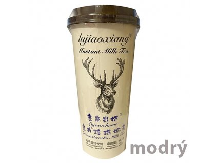 Blue Instant Tapioca Bubble Milk Tea Matcha Xiaochumo 123g TWN
