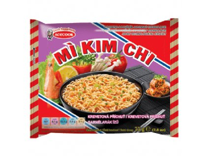 Acecook Mi Kim Chi Instantní Nudlová Polévka Krevetová 75g VNM