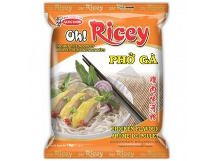 Acecook Oh Ricey Pho Ga Instantní Nudlová Polévka Kuřecí 53g VNM