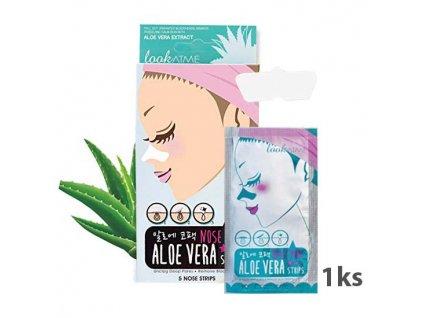 LookATME Nose Pore Strips Aloe Vera Pásek Na Čené Tečky S Výtažkem Aloe Vera 1ks KOR 6