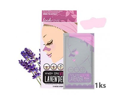 LookATME Nose Pore Strips Lavender Pásek Na Čené Tečky Levandule 1ks KOR