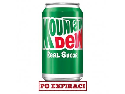 Mountain Dew Real Sugar 355ml USA