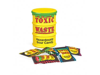 toxic waste yellow sour candy 42g