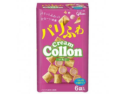 Glico Cream Collon Strawberry 6 Pack 81g JAP
